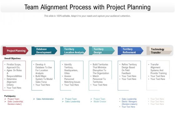 Team Alignment Process With Project Planning Ppt PowerPoint Presentation File Smartart PDF