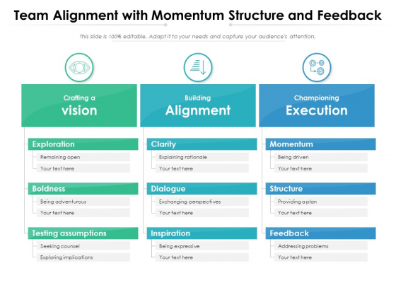 Team Alignment With Momentum Structure And Feedback Ppt PowerPoint Presentation Gallery Professional PDF