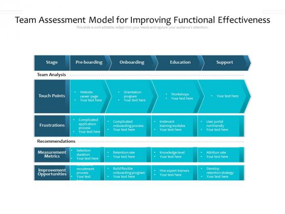 Team Assessment Model For Improving Functional Effectiveness Ppt PowerPoint Presentation Show Designs PDF