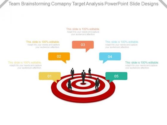Team Brainstorming Company Target Analysis Powerpoint Slide Designs
