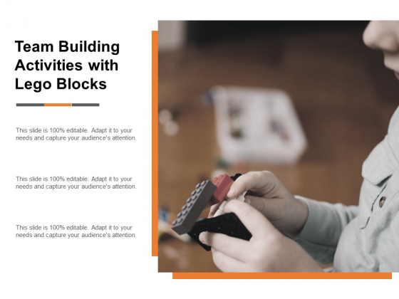 Team Building Activities With Lego Blocks Ppt Powerpoint Presentation Icon Slide