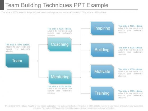 Team Building Techniques Ppt Example