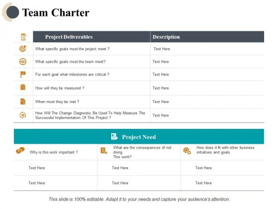 Team Charter Ppt PowerPoint Presentation Infographic Template Samples