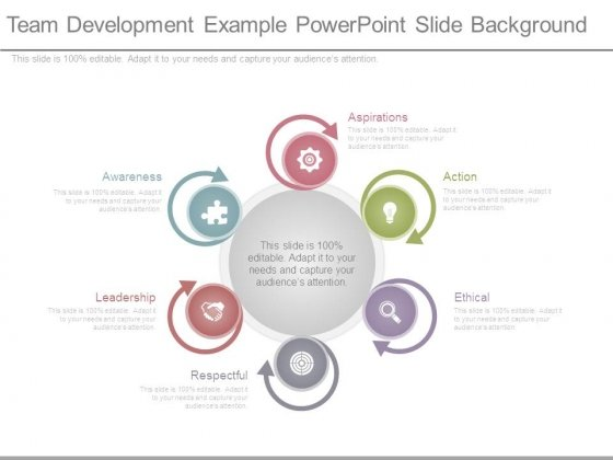 Team Development Example Powerpoint Slide Background