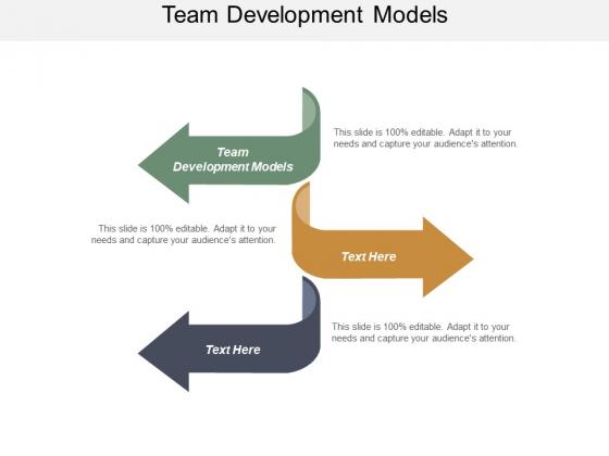 Team Development Models Ppt PowerPoint Presentation Styles Portrait Cpb