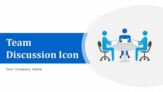 Team Discussion Icon Developing Growth Ppt PowerPoint Presentation Complete Deck With Slides