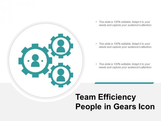 Team Efficiency People In Gears Icon Ppt PowerPoint Presentation Show Graphics Design