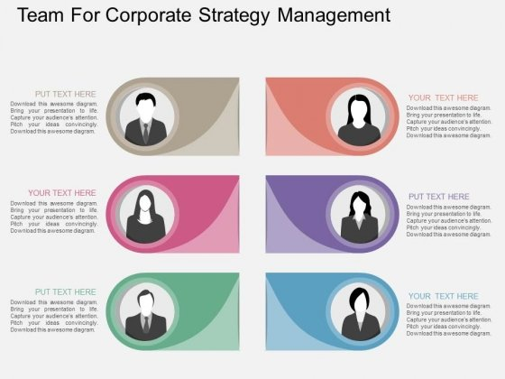 Team For Corporate Strategy Management Powerpoint Template