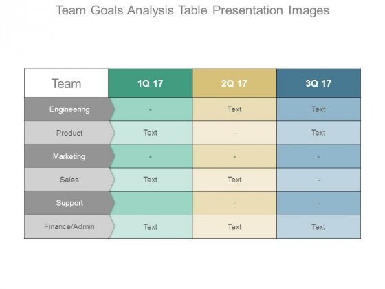 Team Goals Analysis Table Presentation Images