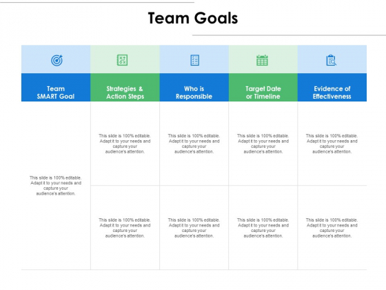 Team Goals Ppt PowerPoint Presentation Infographics Mockup