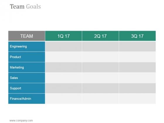 Team Goals Slide Ppt PowerPoint Presentation Tips