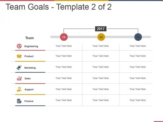 Team Goals Template 2 Ppt PowerPoint Presentation Inspiration Rules