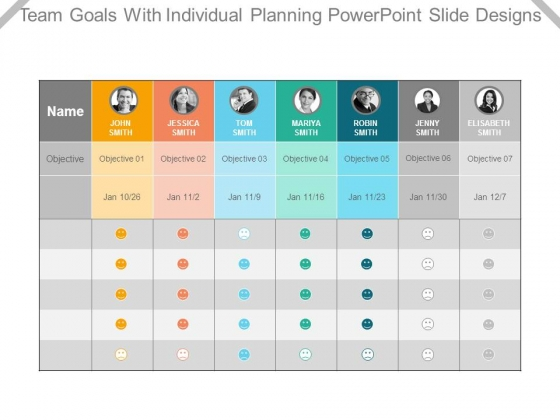 Team Goals With Individual Planning Powerpoint Slide Designs