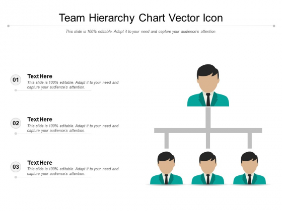 Team Hierarchy Chart Vector Icon Ppt PowerPoint Presentation Infographic Template Visuals PDF