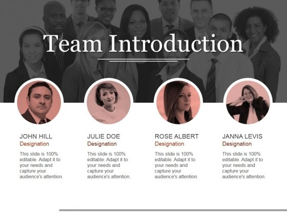 Team Introduction Ppt PowerPoint Presentation Pictures Slide