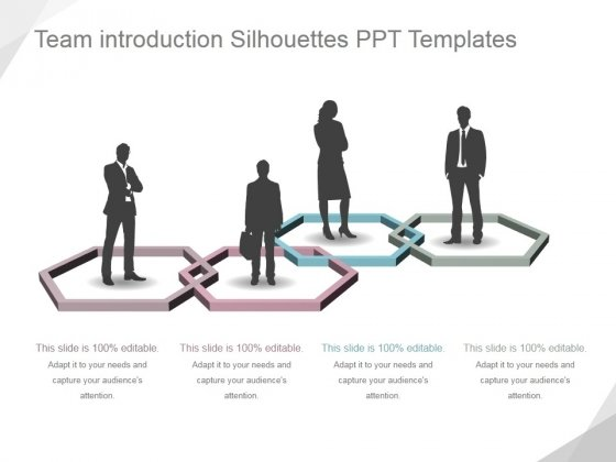 Team Introduction Silhouettes Ppt PowerPoint Presentation Samples