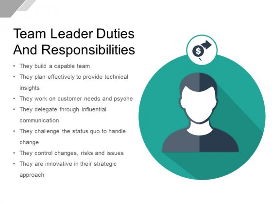 Team Leader Duties And Responsibilities Ppt PowerPoint Presentation Model Example Topics