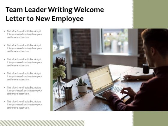 Team Leader Writing Welcome Letter To New Employee Ppt PowerPoint Presentation Professional Inspiration PDF