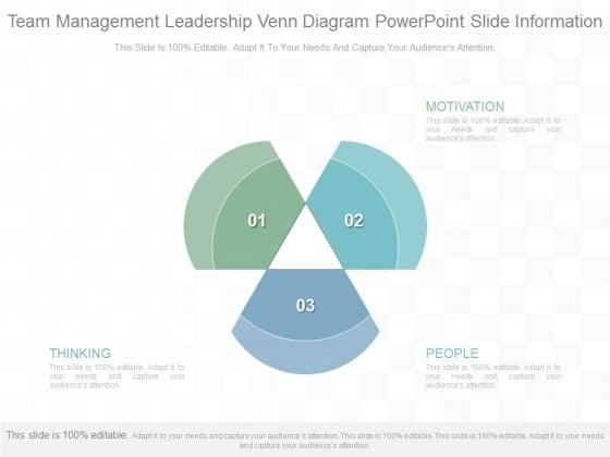 Team Management Leadership Venn Diagram Powerpoint Slide Information
