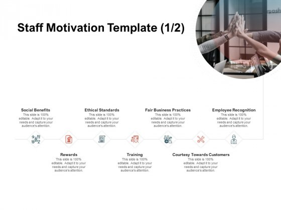 Team Manager Administration Staff Motivation Template Social Benefits Clipart Pdf