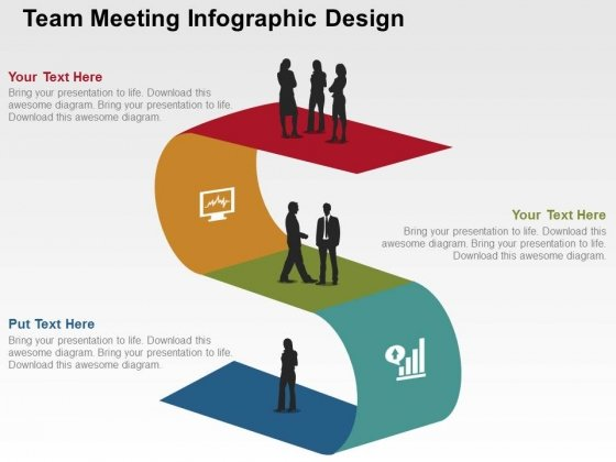 Team Meeting Infographic Design PowerPoint Templates