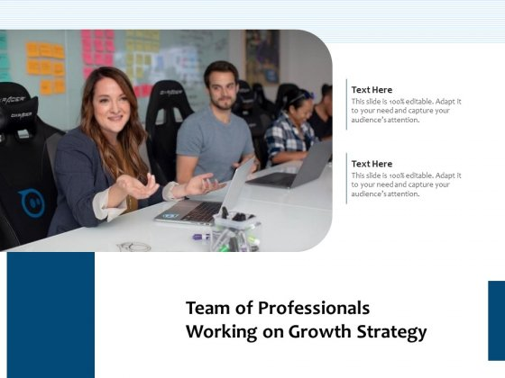 Team Of Professionals Working On Growth Strategy Ppt PowerPoint Presentation Professional Structure PDF