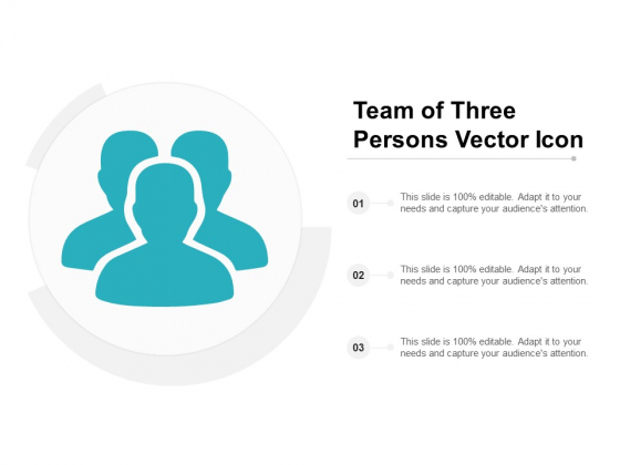 Team Of Three Persons Vector Icon Ppt PowerPoint Presentation Infographics Tips