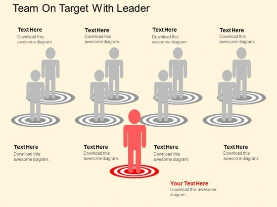 Team On Target With Leader Powerpoint Template