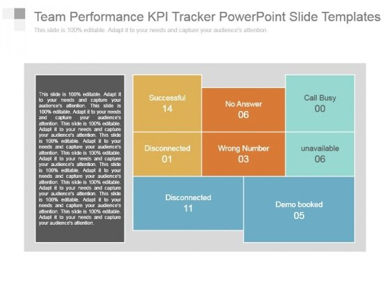 Team Performance Kpi Tracker Powerpoint Slide Templates