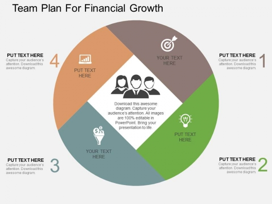 Team Plan For Financial Growth Powerpoint Templates