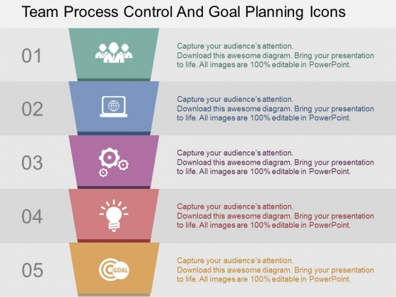 Team Process Control And Goal Planning Icons Powerpoint Templates