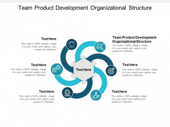Team Product Development Organizational Structure Ppt PowerPoint Presentation Slides Shapes Cpb
