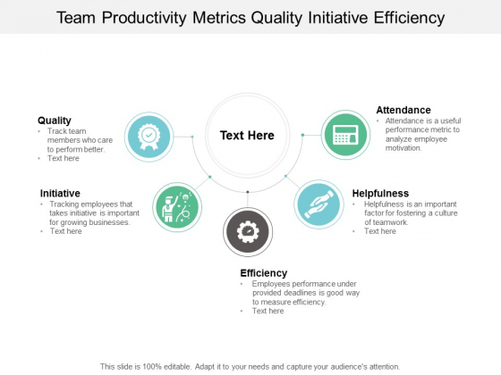 team productivity metrics quality initiative efficiency ppt powerpoint presentation slides example introduction