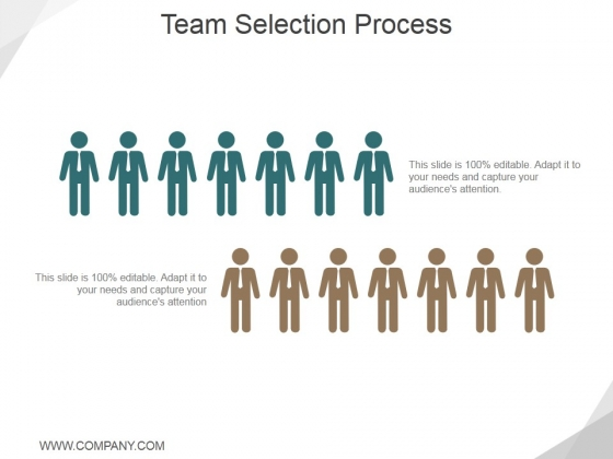 Team Selection Process Ppt PowerPoint Presentation Professional Good