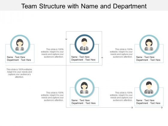 Team Structure With Name And Department Ppt PowerPoint Presentation File Professional