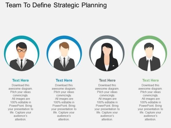 team to define strategic planning powerpoint template - powerpoint, Modern powerpoint