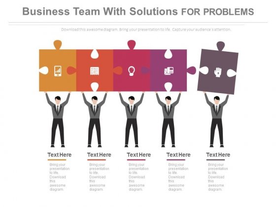 Team Together For Conjoint Analysis Powerpoint Template