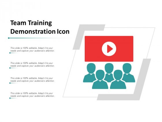 Team Training Demonstration Icon Ppt Powerpoint Presentation Gallery Show