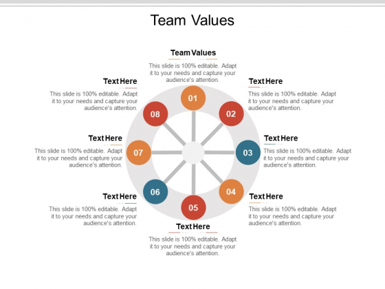 Team Values Ppt PowerPoint Presentation Pictures Design Inspiration Cpb