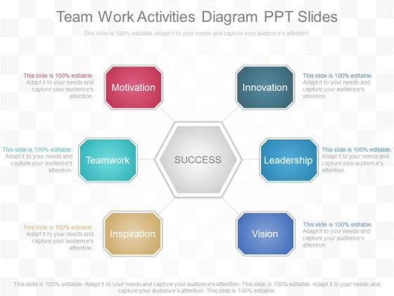 Team Work Activities Diagram Ppt Slides
