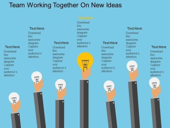 Team Working Together On New Ideas Powerpoint Template