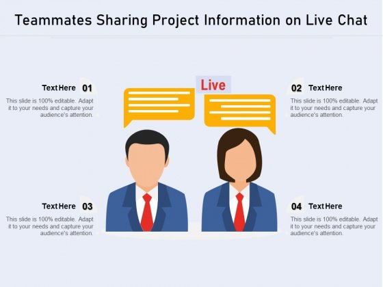 Teammates Sharing Project Information On Live Chat Ppt PowerPoint Presentation Inspiration Summary PDF
