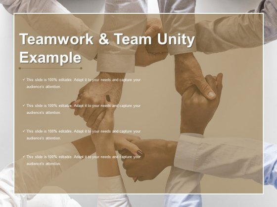 Teamwork And Team Unity Example Ppt PowerPoint Presentation Slides Infographics