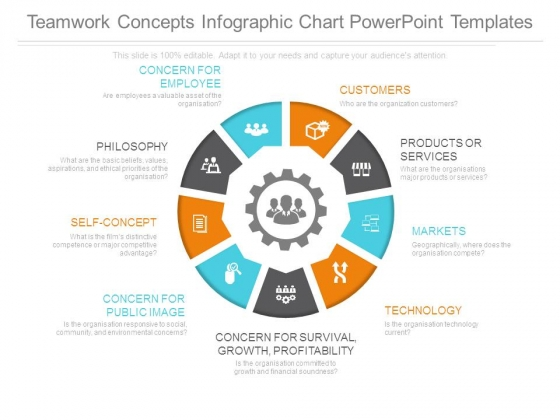 Teamwork Concepts Infographic Chart Powerpoint Templates