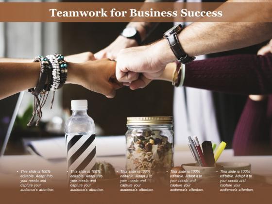 Teamwork For Business Success Ppt PowerPoint Presentation Outline Portfolio