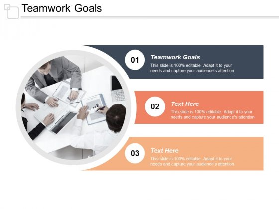 Teamwork Goals Ppt Powerpoint Presentation Infographic Template Icons Cpb