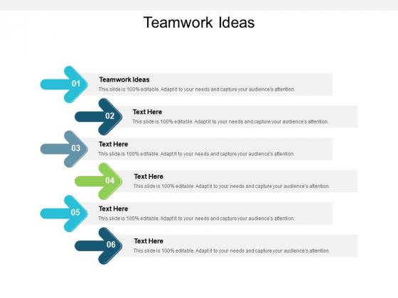 Teamwork Ideas Ppt PowerPoint Presentation Show Mockup