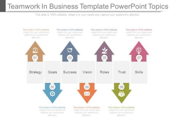 Teamwork In Business Template Powerpoint Topics