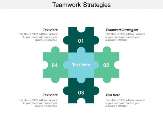 Teamwork Strategies Ppt PowerPoint Presentation File Inspiration Cpb
