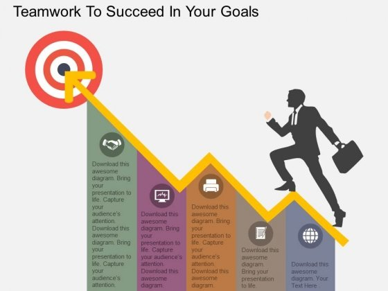 Teamwork To Succeed In Your Goals Powerpoint Template